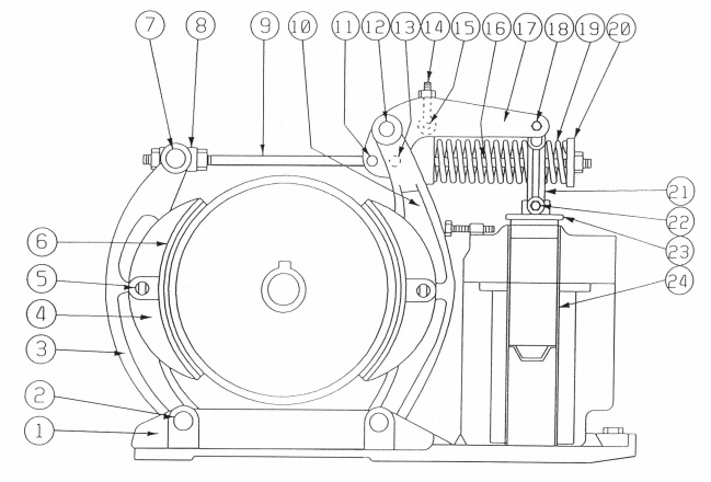Westinghouse Type DI 135-F Magnetic Brake