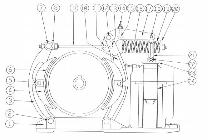 Westinghouse Type DI 239-F Magnetic Brake